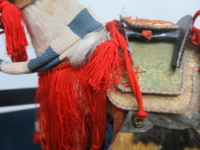 【人形館】「丸平太鼓と神馬C-244」五月人形・武者人形・大将飾り.蒔絵〝五〟_画像5