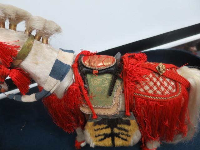 【人形館】「丸平太鼓と神馬C-244」五月人形・武者人形・大将飾り.蒔絵〝五〟_画像8