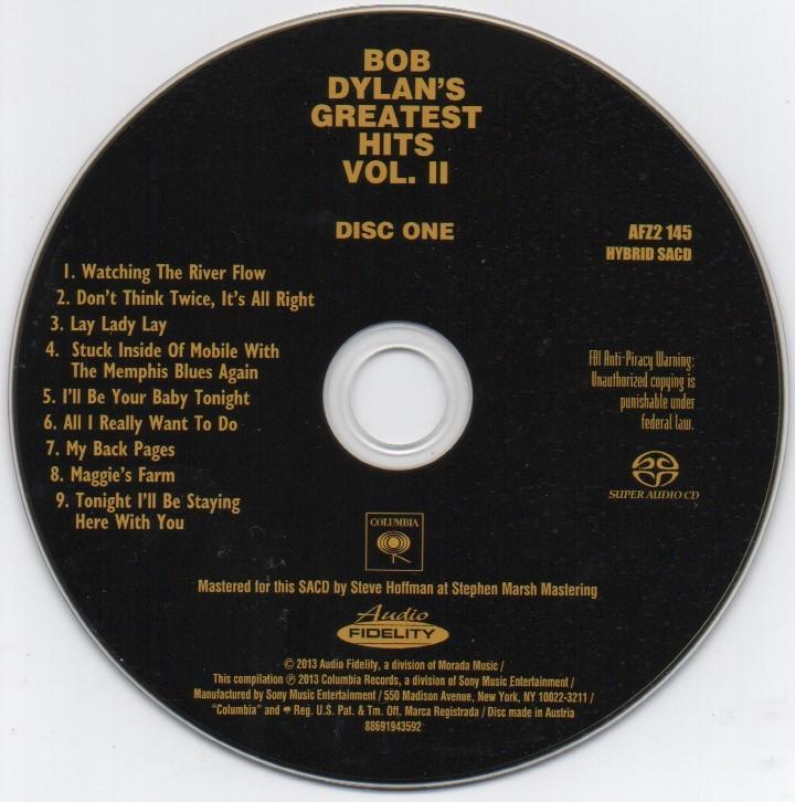 限定番号入りHYBRID SACD「BOB DYLAN'S GREATEST HITS VOL.Ⅱ」_画像9