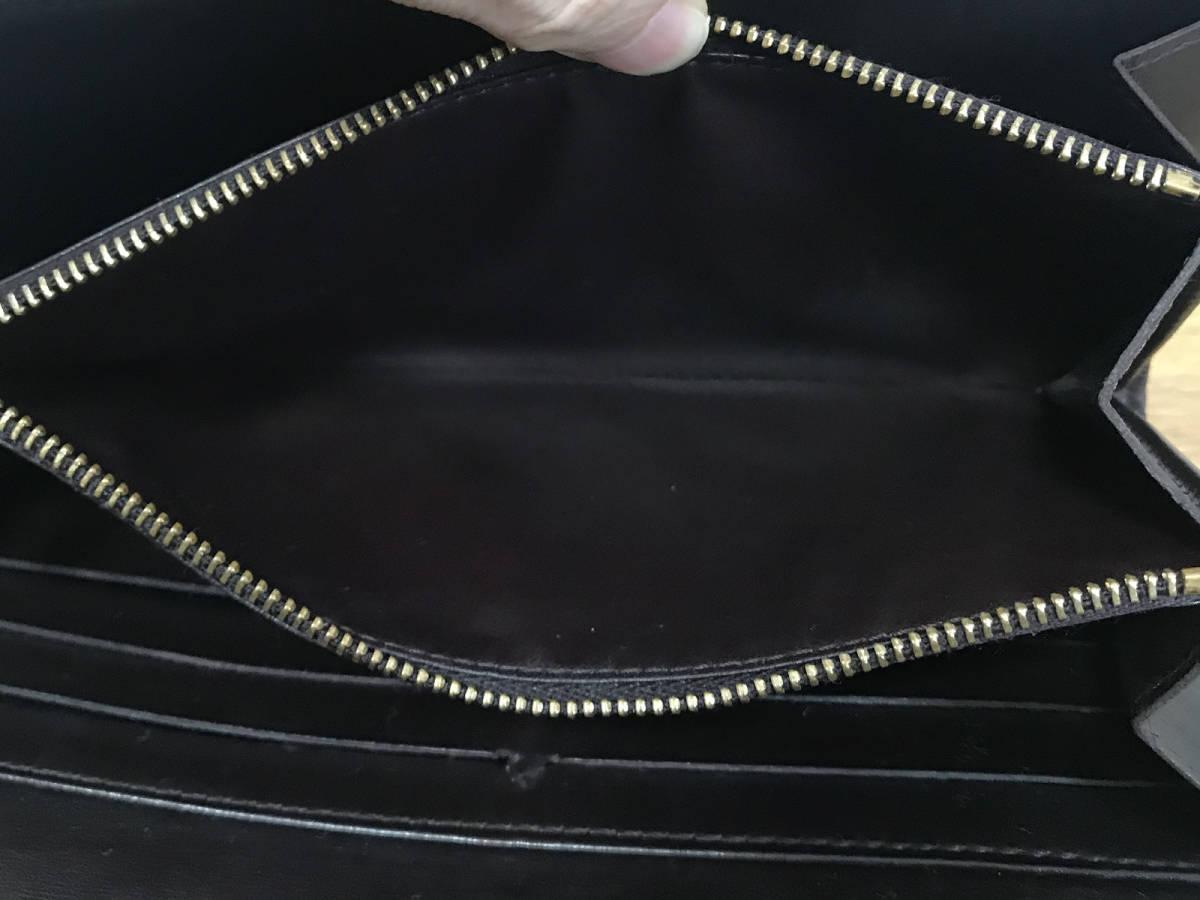 超美品【新型】ヴィトン ヴェルニ アマラント ジッピー 長財布 サラ NM/黒 より 紫 パープル インターナショナル 折財布_画像7