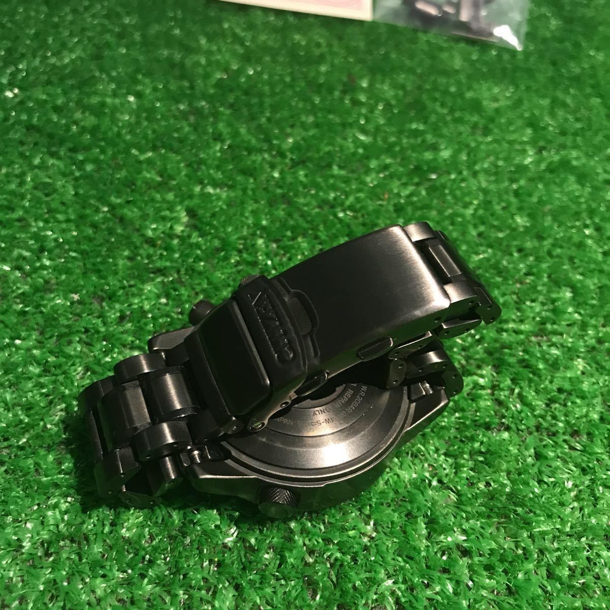 新品同様1円~ 試着程度 シチズン U680-T019692 プロマスター チタン ソーラー 電波時計 アナデジ メンズ腕時計 60サイズ (62)_画像5