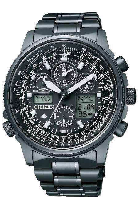 新品同様1円~ 試着程度 シチズン U680-T019692 プロマスター チタン ソーラー 電波時計 アナデジ メンズ腕時計 60サイズ (62)