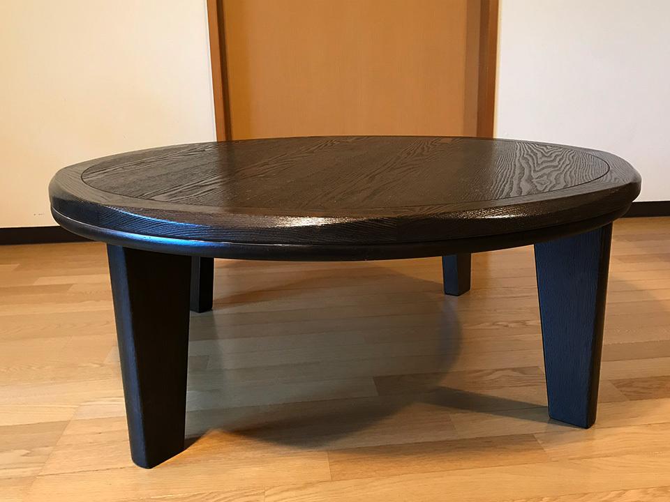 прекрасный товар круглый стол . котацу круг модный 100cm мир Asian современный контроллер задняя поверхность складывание возможность living