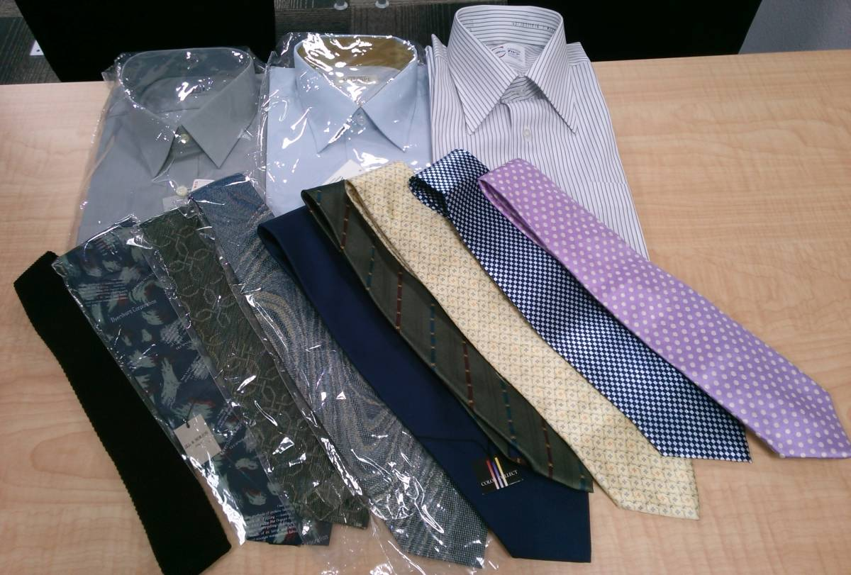 31682 メンズ カッターシャツ Yシャツ ネクタイ おまとめ 12点セット