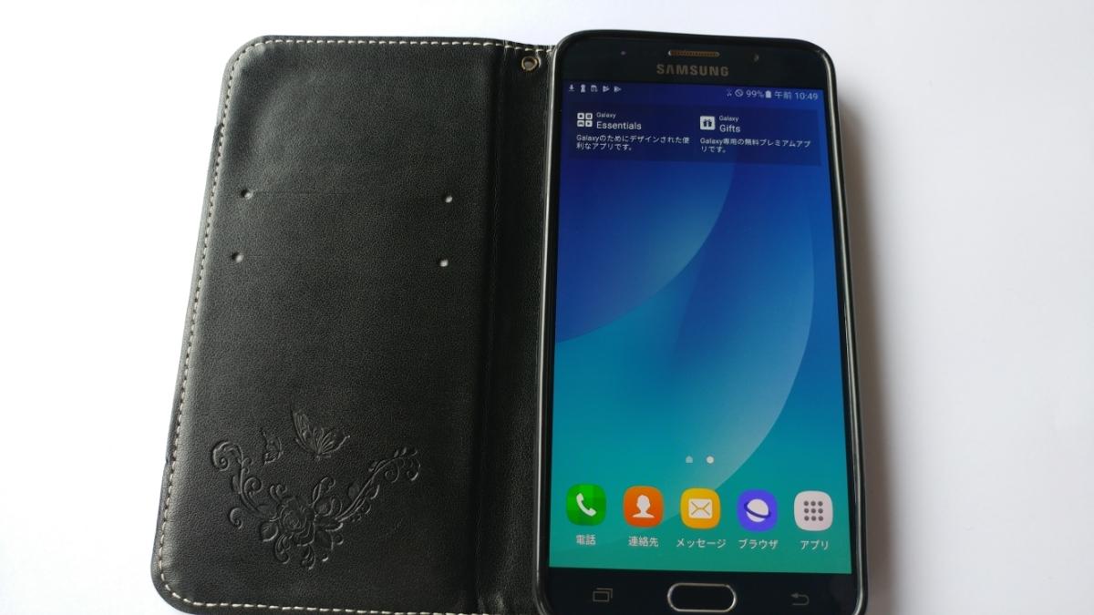 スマートフォン サムソン Galaxy Note5 LTE (SM-N920V) 32GB Black 【 SIMフリー】