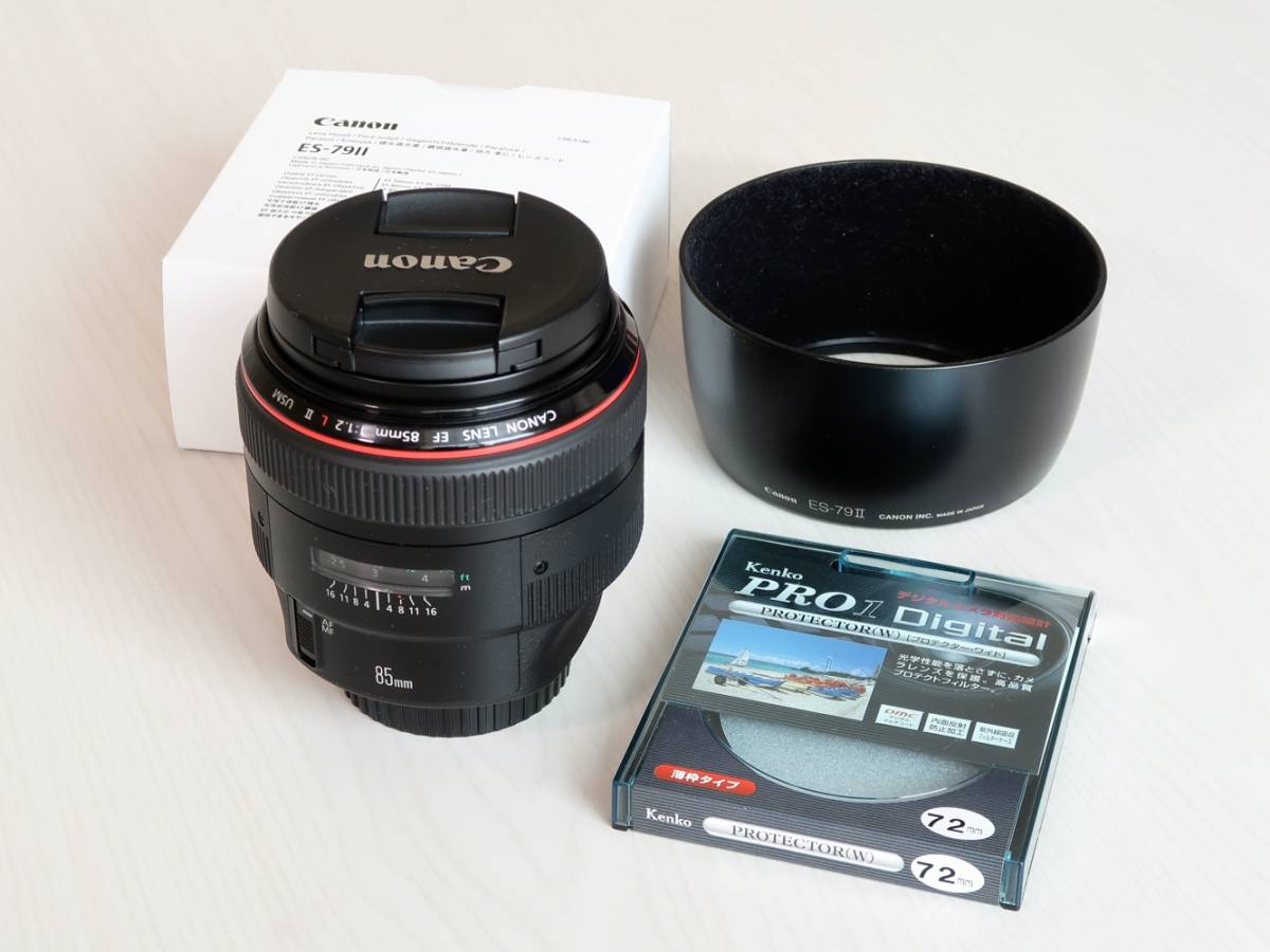 Canon EF 85mm F1.2L II USM 光学系綺麗 美品 ワンオーナー あんしんメンテプレミアム 点検実施済