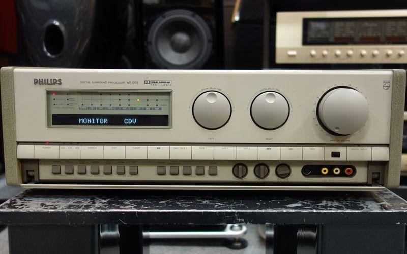 デジタルサラウンドプロセッサー PHILIPS フィリップス AV1001 DAC搭載_画像2