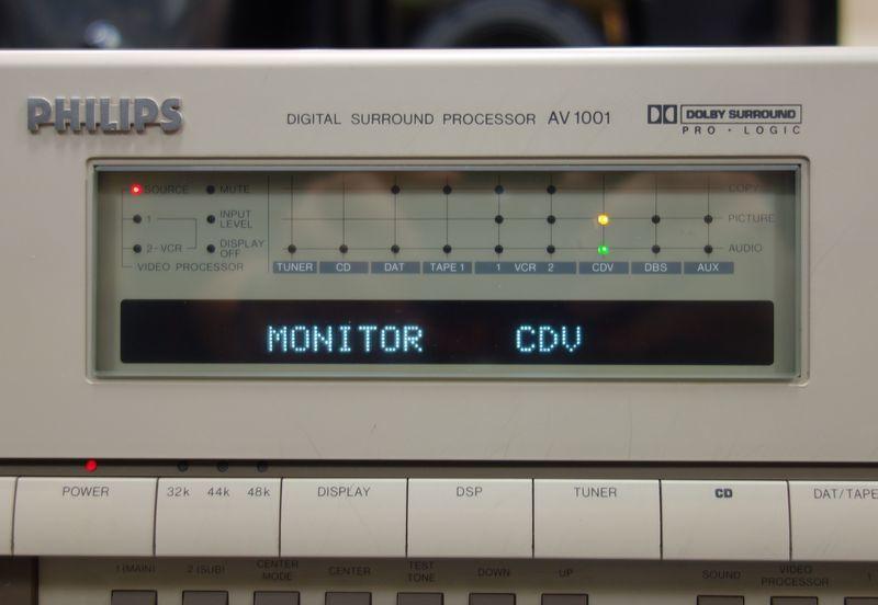 デジタルサラウンドプロセッサー PHILIPS フィリップス AV1001 DAC搭載_画像3