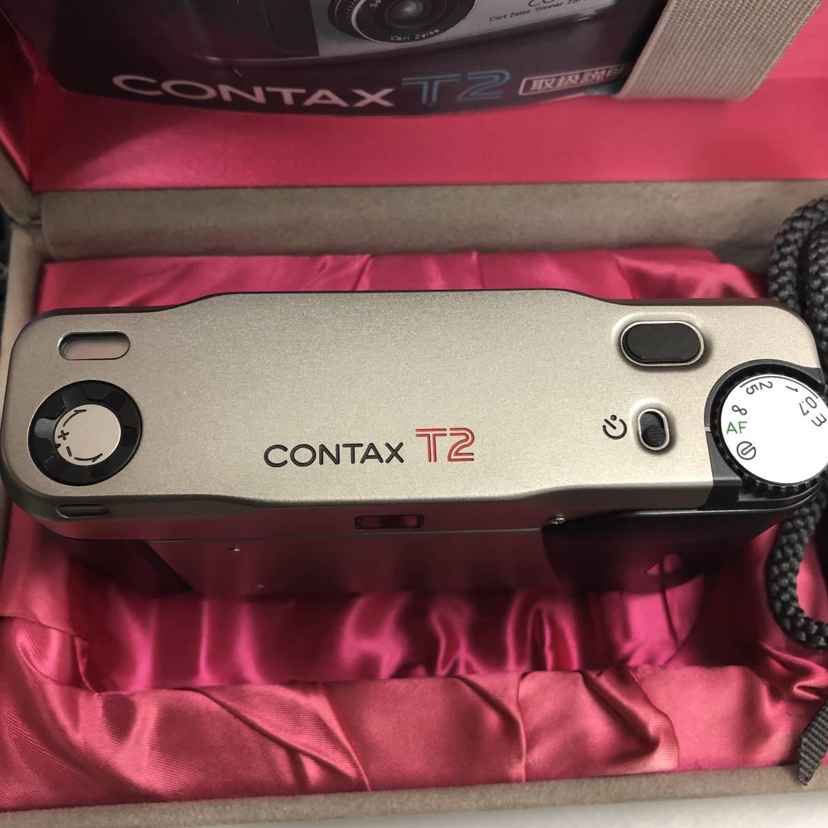 ★美品★ コンタックス CONTAX T2 Sonnar 38mm F2.8 T* コンパクトフィルムカメラ 取扱説明書 元箱 ケース ストラップ付_画像7