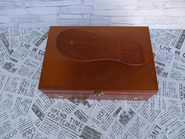 新品:シューケアボックス ・ 道具箱 ・ツールボックス 靴 靴磨き_画像4