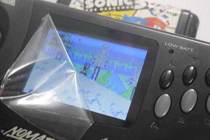 メンテ完了 セガ ノーマッド NOMAD 3.5 TFT液晶 + 新品ガラス スクリーン JP化 USB給電可_画像7