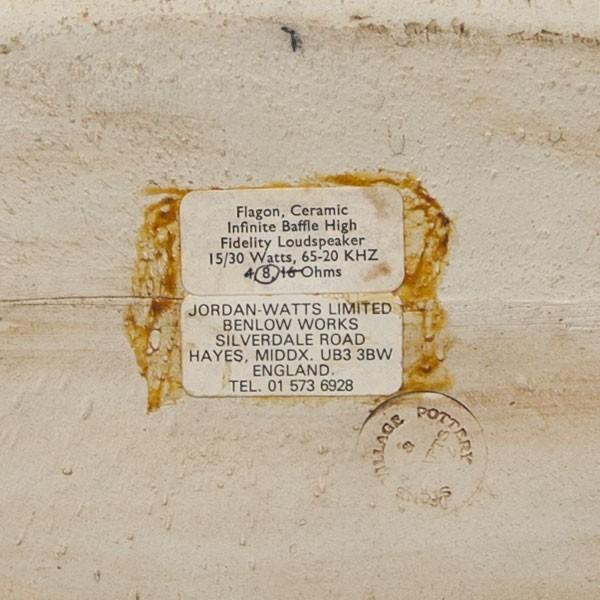 ジョーダン ワッツ フラゴン JORDAN WATTS FLAGON CERAMIC ペア ■陶器製 ■英国製 ■ワンオーナー_画像4