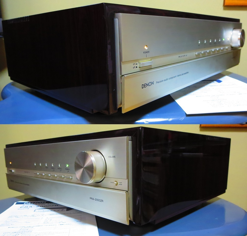 DENON デノン プリアンプ PRA-2000ZR 完全動作品 ♪保証あり♪ ソフトタッチ入力切り換えプシュボタン コントロールアンプ その3_画像7