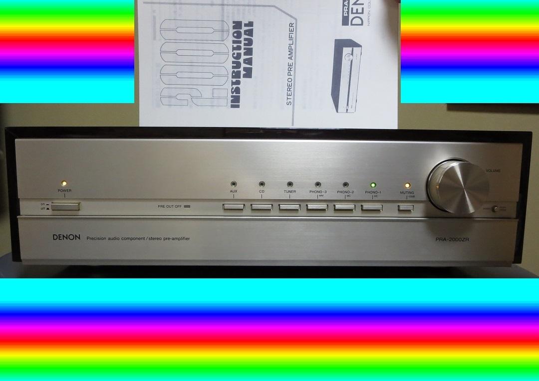 DENON デノン プリアンプ PRA-2000ZR 完全動作品 ♪保証あり♪ ソフトタッチ入力切り換えプシュボタン コントロールアンプ その3_画像1