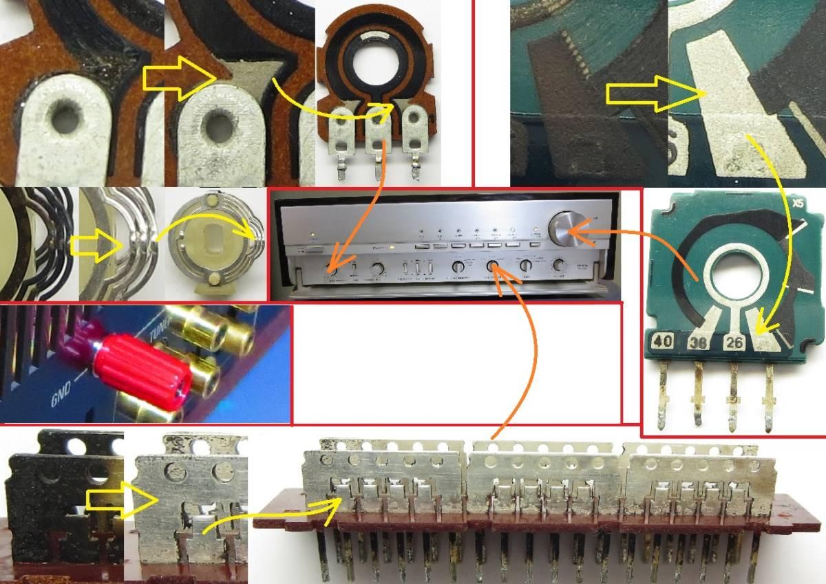 DENON デノン プリアンプ PRA-2000ZR 完全動作品 ♪保証あり♪ ソフトタッチ入力切り換えプシュボタン コントロールアンプ その3_GNDターミナル取替えしています。