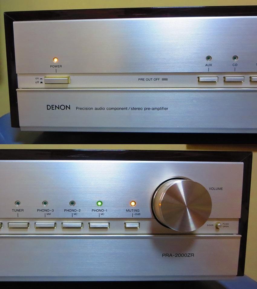 DENON デノン プリアンプ PRA-2000ZR 完全動作品 ♪保証あり♪ ソフトタッチ入力切り換えプシュボタン コントロールアンプ その3_画像2