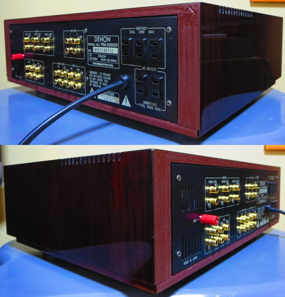 DENON デノン プリアンプ PRA-2000ZR 完全動作品 ♪保証あり♪ ソフトタッチ入力切り換えプシュボタン コントロールアンプ その3_画像8