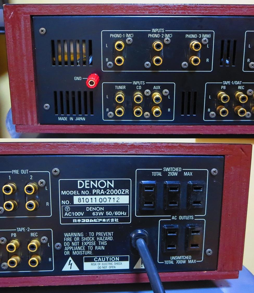 DENON デノン プリアンプ PRA-2000ZR 完全動作品 ♪保証あり♪ ソフトタッチ入力切り換えプシュボタン コントロールアンプ その3_画像6