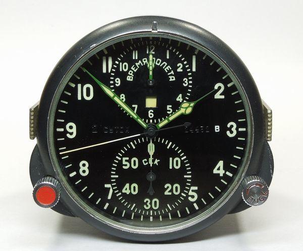 ソ連・ソビエト / コックピット クロック АЧС-1 / ACHS -1 ( 24432 B ) ミグ戦闘機 手巻式機械クロノグラフ