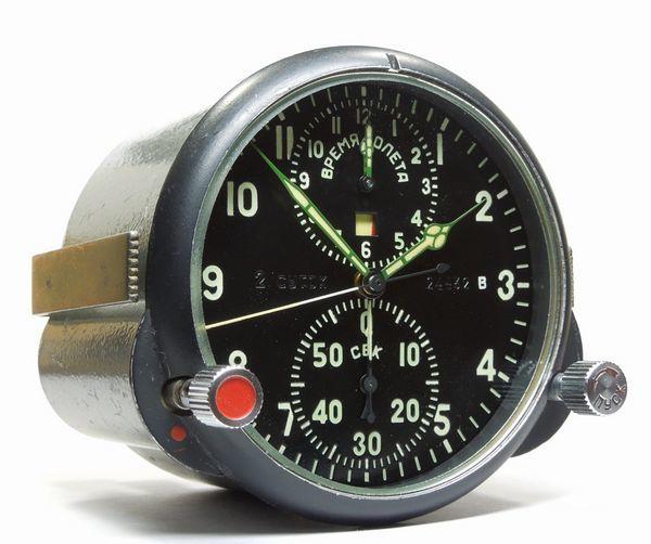ソ連・ソビエト / コックピット クロック АЧС-1 / ACHS -1 ( 24432 B ) ミグ戦闘機 手巻式機械クロノグラフ_画像5