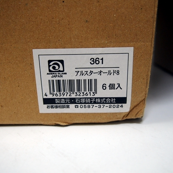 【未使用品】日本製 石塚硝子 アデリアグラス 3種類 15個 373 アルスター300/361 アルスターオールド8/356 アルスター180 (FA09)_画像7