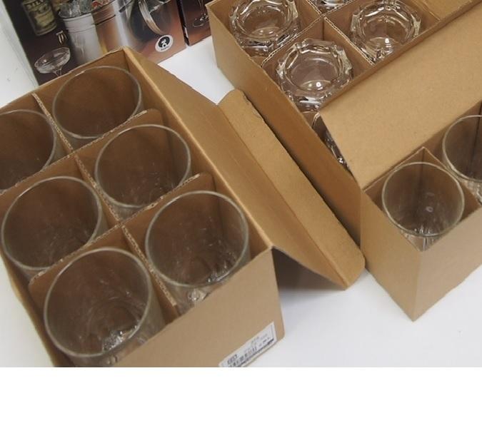 【未使用品】日本製 石塚硝子 アデリアグラス 3種類 15個 373 アルスター300/361 アルスターオールド8/356 アルスター180 (FA09)