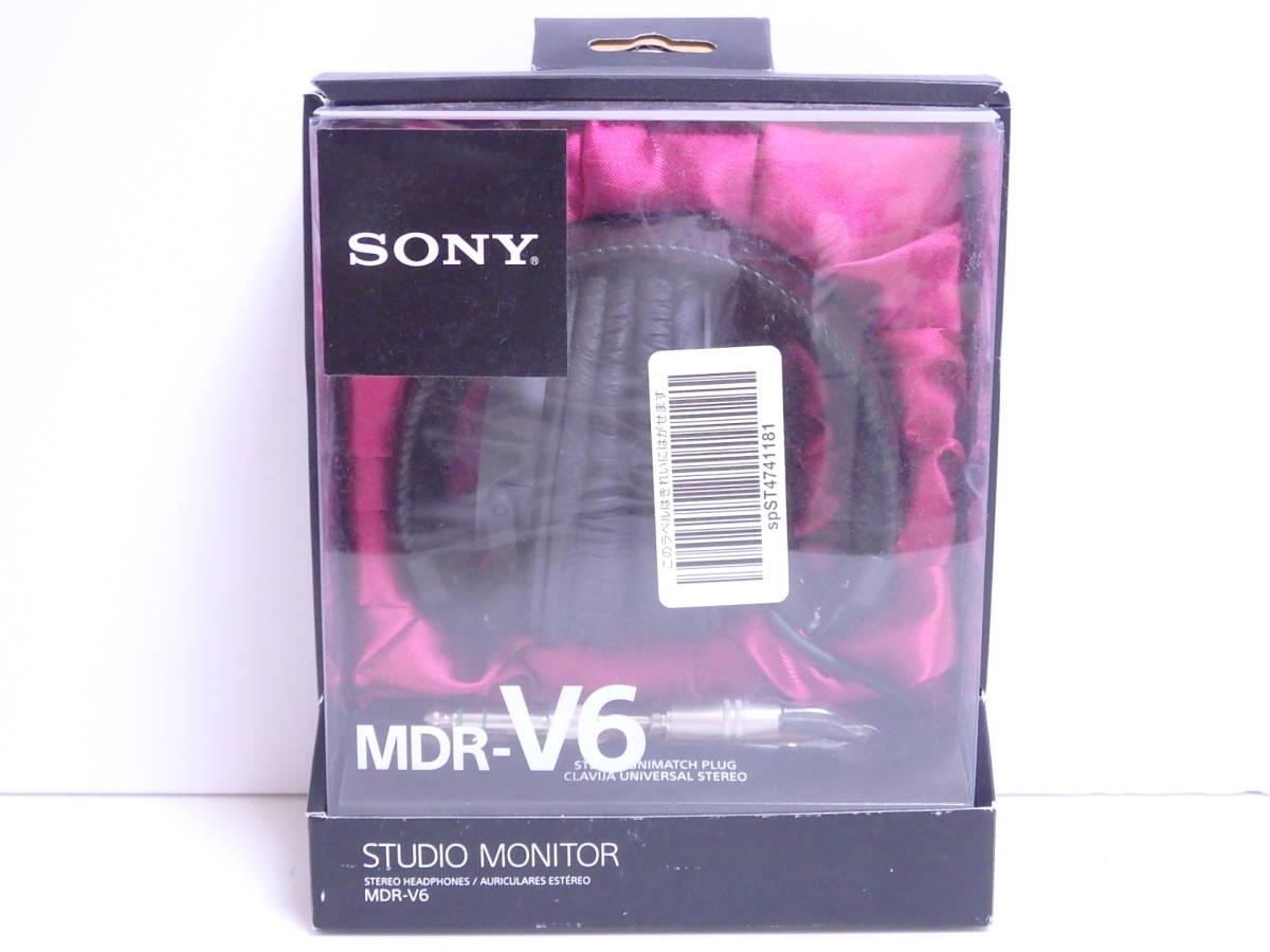 【未開封】SONY スタジオヘッドホン MDR-V6 国内未発売 並行輸入品