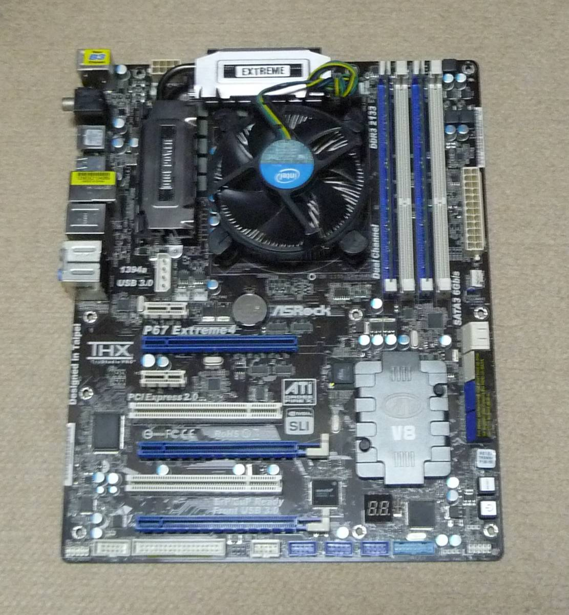 ☆ASRock P67 Extreme4 (LGA1155) + G1610 + 2GB Win10動作☆