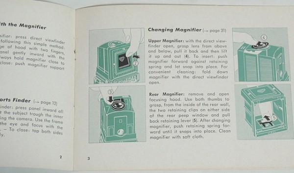 ★説明書【Tele Rolleiflex】英文 1962年? テレローライフレックス 送料150円_画像2