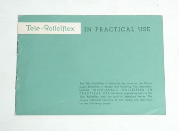 ★説明書【Tele Rolleiflex】英文 1962年? テレローライフレックス 送料150円
