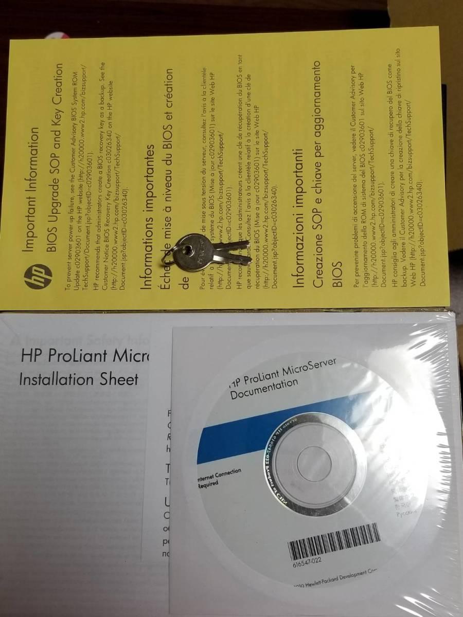1円スタート ジャンク扱い 動作未確認 HDD無し HP ProLiant MicroServer G7 N54L SP1153JP Svr_画像5