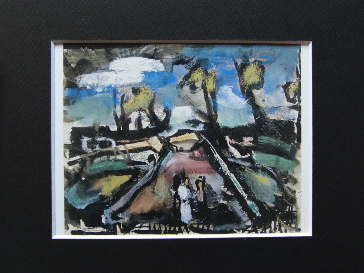 ジョルジュ・ルオー、風景:秋、希少な画集より、新品高級額・額装付、状態良好、送料込み_画像3