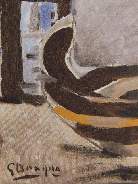ジョルジュ・ブラック、小舟、希少な画集より、状態良好、新品高級額、額装付、絵画 送料無料_画像2