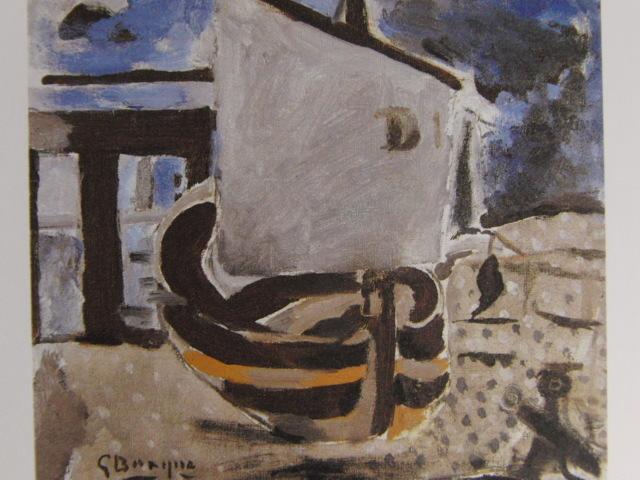 ジョルジュ・ブラック、小舟、希少な画集より、状態良好、新品高級額、額装付、絵画 送料無料_画像1