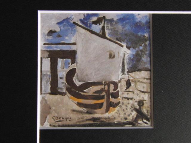 ジョルジュ・ブラック、小舟、希少な画集より、状態良好、新品高級額、額装付、絵画 送料無料_画像3