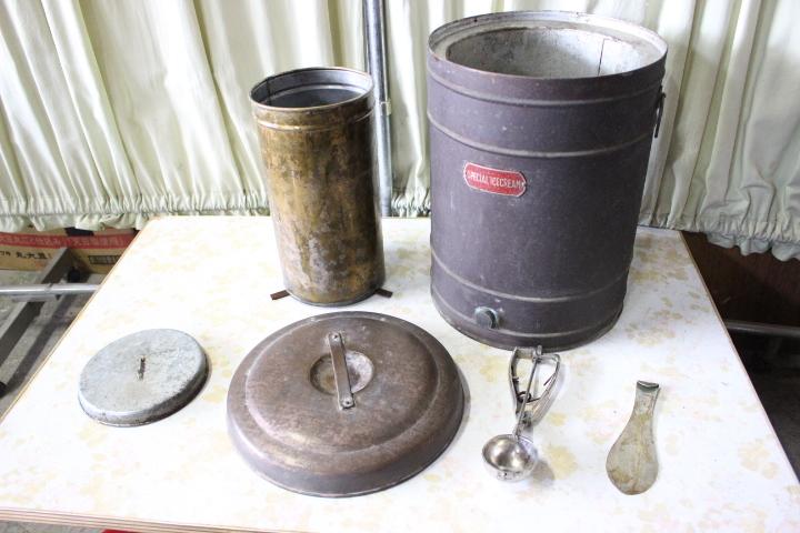 ★ イ-351 アイスクリーマー 業務用 銅製 SPECIAL ICECREAM 当時物 貴重 希少 珍品 デッシャー他 ※ 寸法画像下&説明参照_全重量6.4kg 画像2の下、寸法有