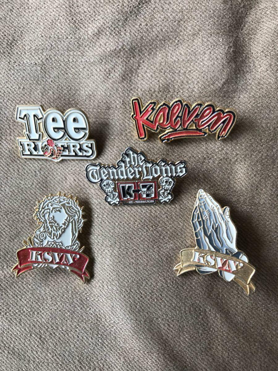 テンダーロイン ピンバッチ ゴールド TENDERLOIN Kseven Tee Riders 5点セット
