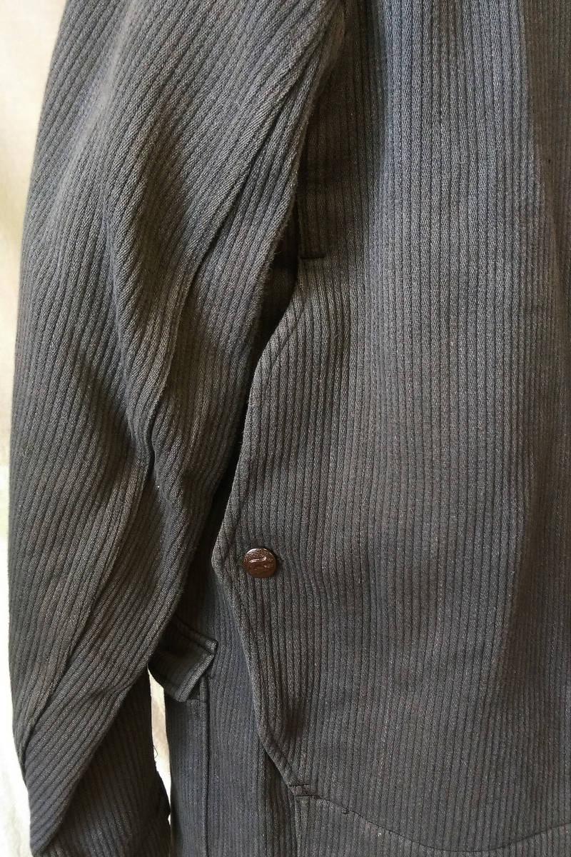 フレンチ ビンテージ ピケ ハンティングジャケット フランス古着 アンティーク 動物ボタン_画像6