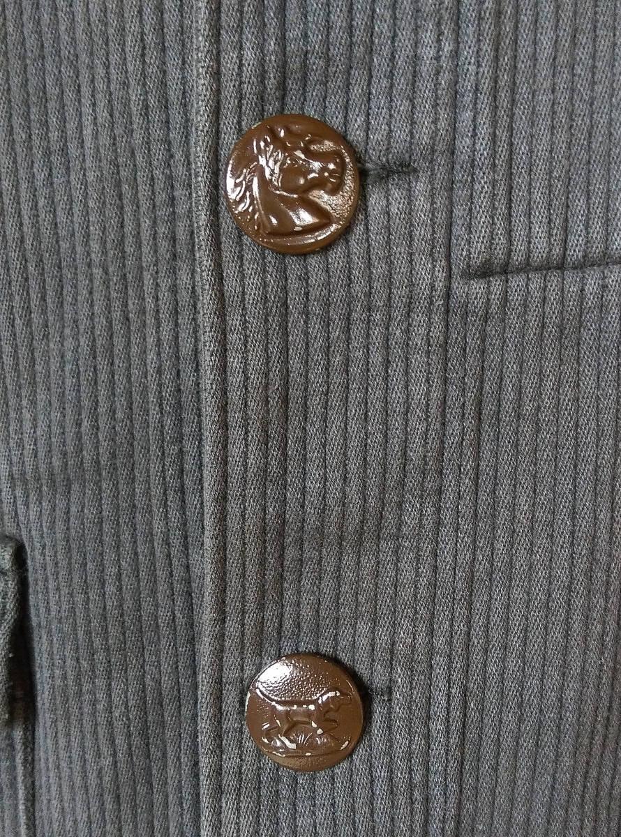 フレンチ ビンテージ ピケ ハンティングジャケット フランス古着 アンティーク 動物ボタン_画像10