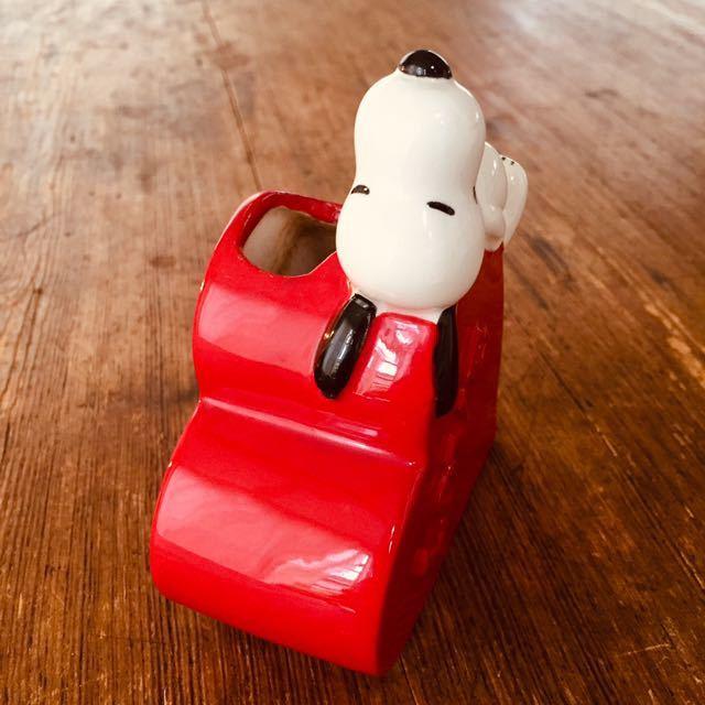 1970's ビンテージ スヌーピー日本未発売 ピーナッツ レトロ ハート ブラシ立て 花瓶 ハート_画像2