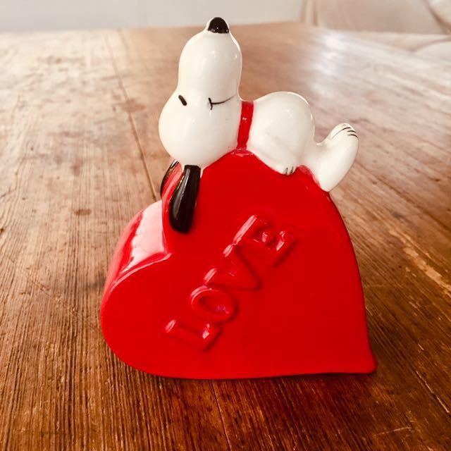 1970's ビンテージ スヌーピー日本未発売 ピーナッツ レトロ ハート ブラシ立て 花瓶 ハート