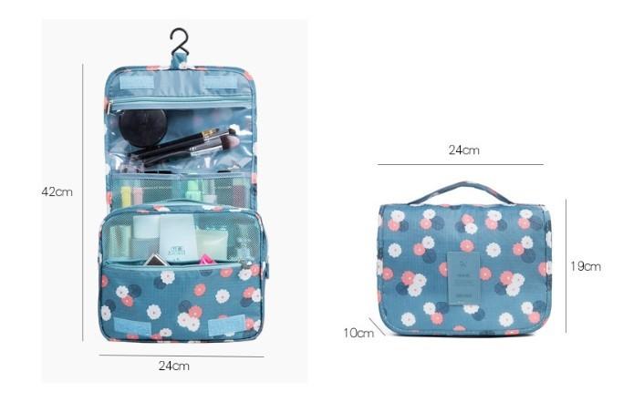 スッキリ収納できる★トラベルポーチ 旅行バッグ コンパクトサイズ 化粧ポーチ コスメポーチ ハンガーフック付き バッグインバッグ_画像8