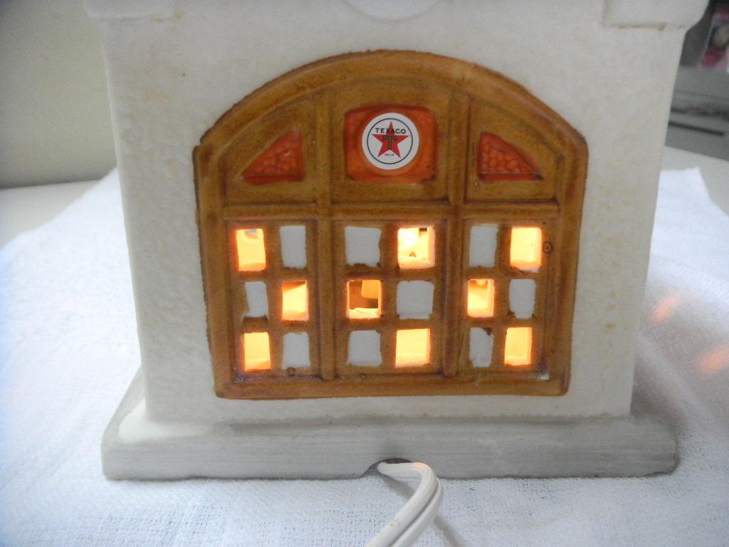 テキサコ、TEXACO、電飾、照明付ガソリンスタンド・ブラウン、貴重品、珍品_画像4