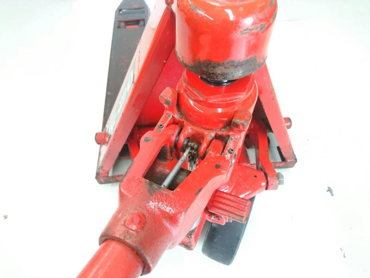 【10271083】スギヤス ビシャモン ハンドパレット BM15-L50 使用能力1200kg/1.2t ツメ長約800mm ハンドリフト 物流 運搬 管)j0715-2-2500_画像8