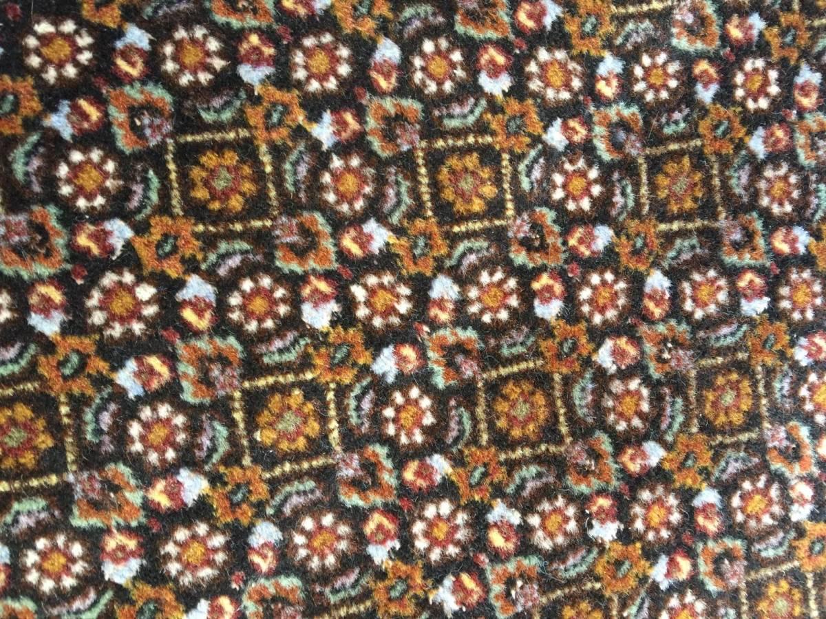上質のオールド 上品で高級感あふれるマヒ ペルシャ絨毯 _画像3