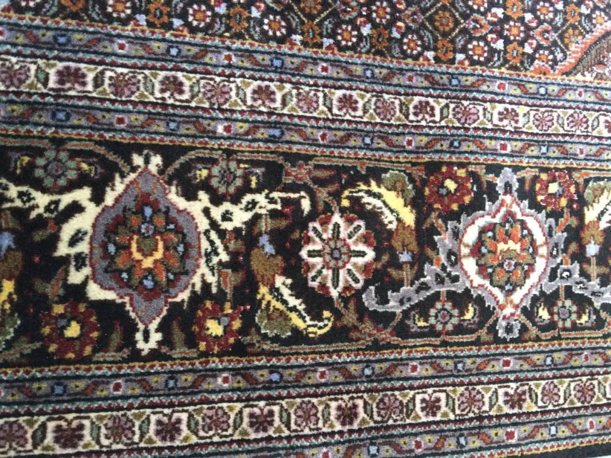上質のオールド 上品で高級感あふれるマヒ ペルシャ絨毯 _画像9