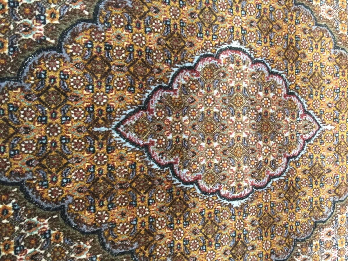上質のオールド 上品で高級感あふれるマヒ ペルシャ絨毯 _画像10
