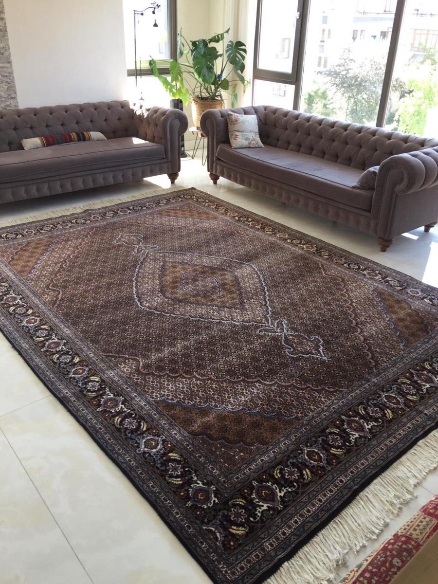 上質のオールド 上品で高級感あふれるマヒ ペルシャ絨毯 _画像1