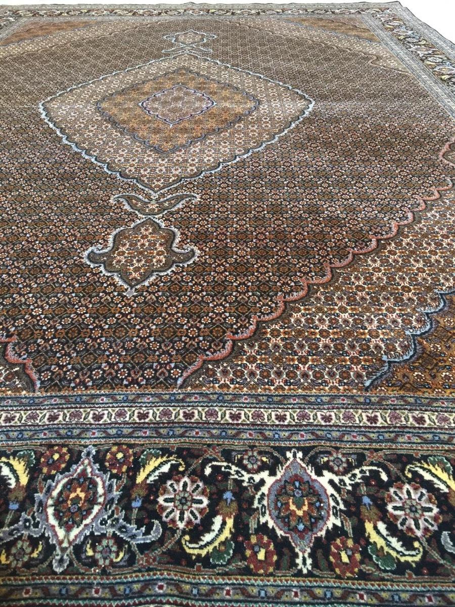 上質のオールド 上品で高級感あふれるマヒ ペルシャ絨毯 _画像8