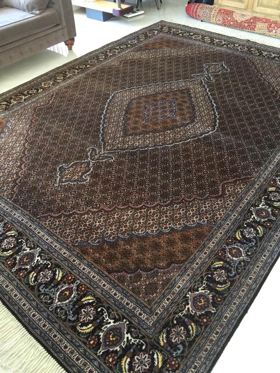 上質のオールド 上品で高級感あふれるマヒ ペルシャ絨毯 _画像5